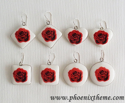 Ceramic Jewelry - Pendant, Bangle & Earrings