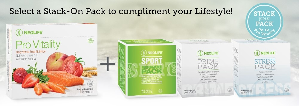 Stack your Pack on to Pro Vitality ~ From NeoLife!