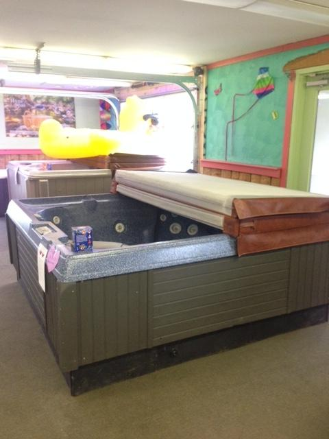 "Coleman #117   90"" x 90"" Used hot tub on sale for $2,500.00"